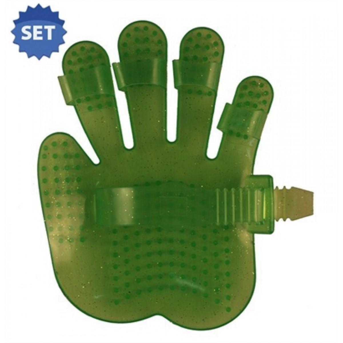 Håndskåret Gnubber Fair Play 13x18cm grøn