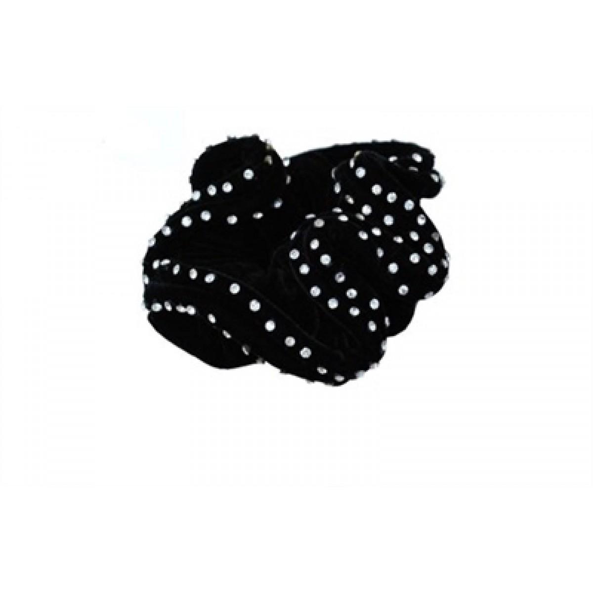 SD Double Diamond Scrunchie Elastik - Sort