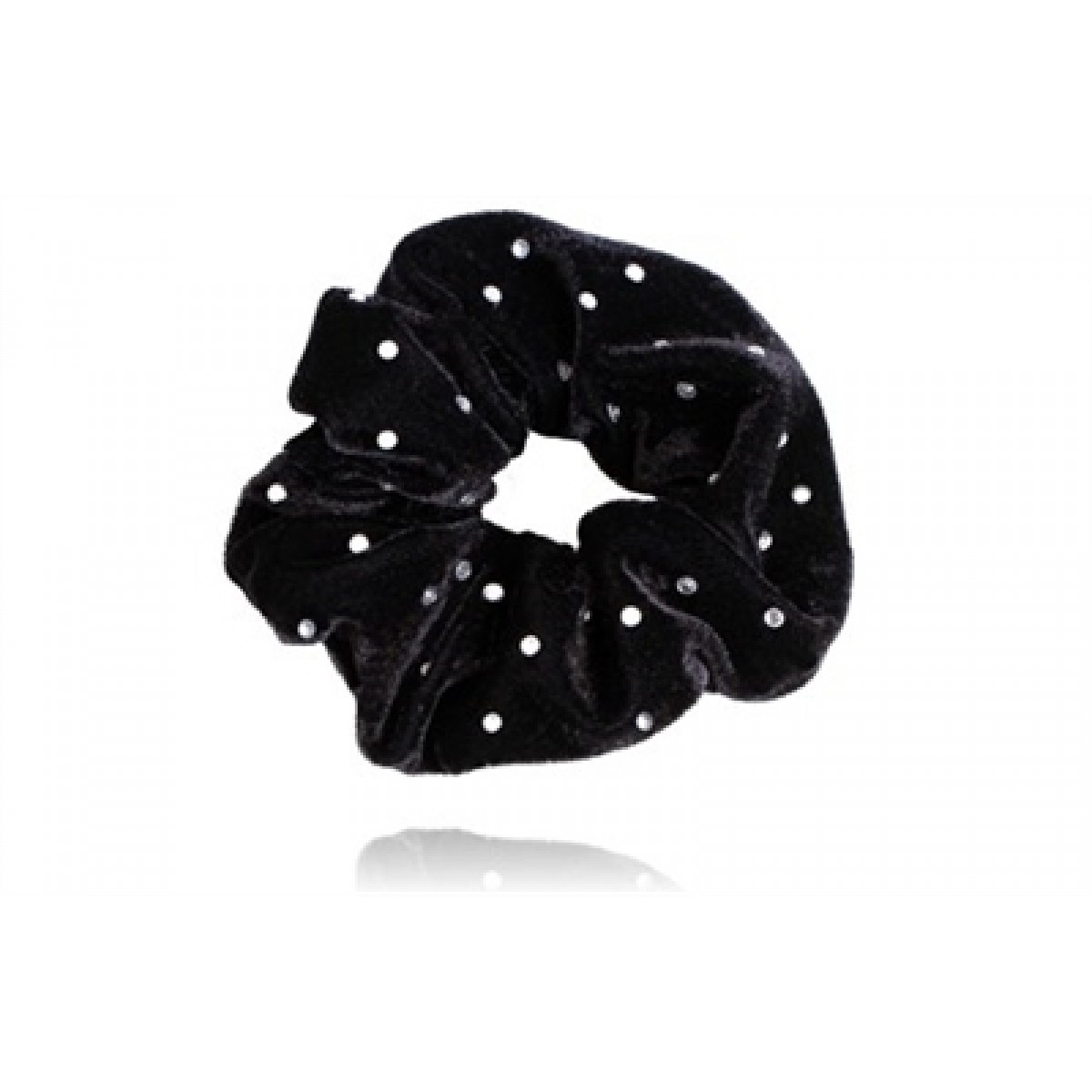 SD Diamond Scrunchie Elastik - Sort