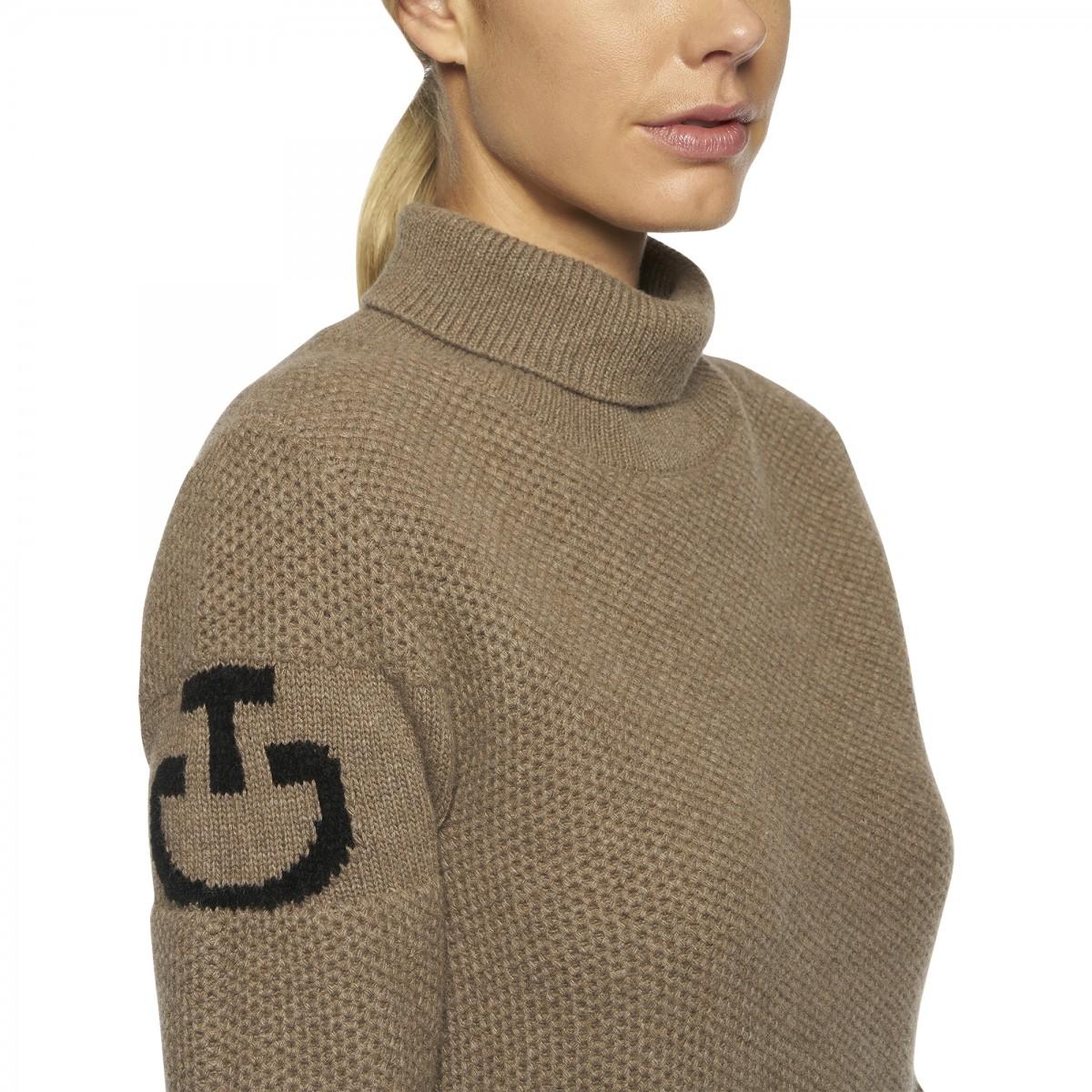 Cavalleria Toacana Eco Merinos Tutleneck Double Knit Sweater Beige