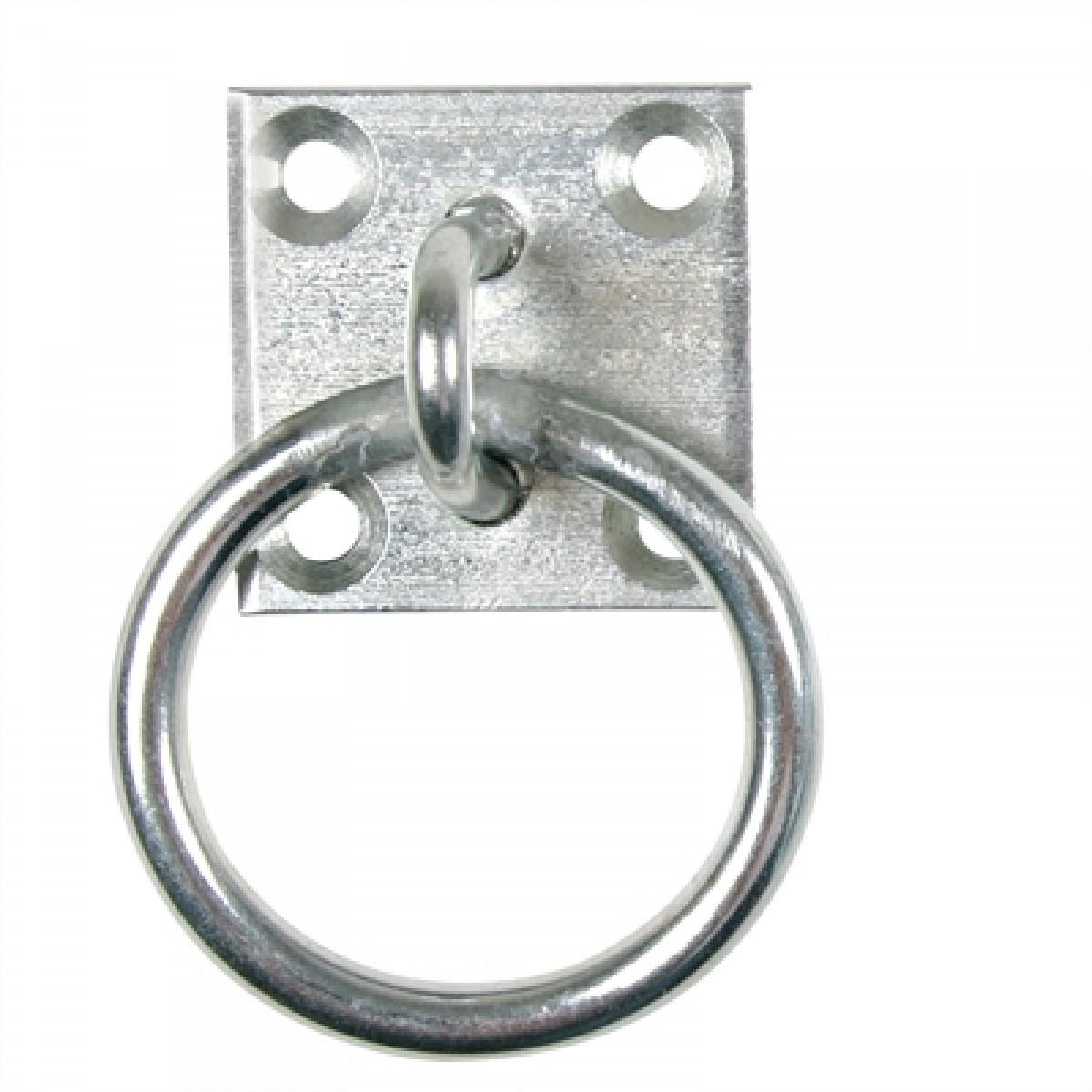 Rustfristål plade m/ring